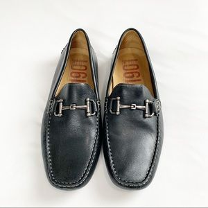 1901 Black Leather Loafers